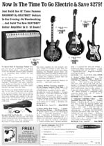 1967 Heathkit amps and Harmony guitars