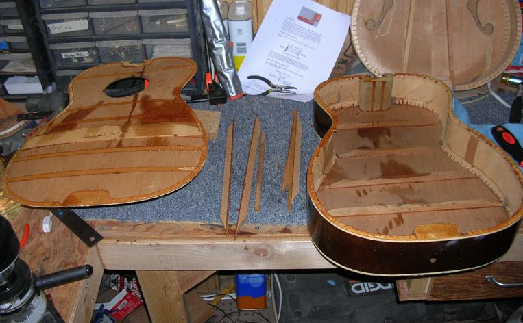 Harmony H942 guitar restore project