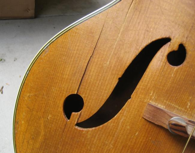 Harmony H1457 archtop guitar restoration