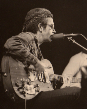 JJ Cale and his Harmony guitar